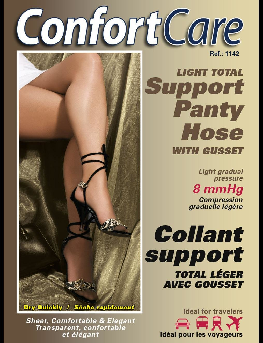 Bas Culotte Élastique support léger (8mmHg) Elastic Panty Hose light support