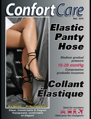 Spécial # 1075 3PRS. X $50.00 Bas Culotte Èlastique Support moyen (15-20mmHg) Elastic medium support  Panty Hose..