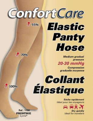 Spécial #1190 2 PRS. X $140.00 Bas Collant Élastique compression forte (20-30mmHg) Elastic Panty Hose high compression.