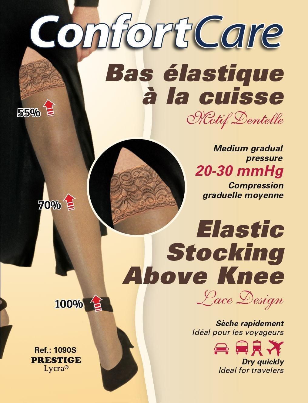 Bas Élastique à la Cuisse compression forte ( 20-30 mmHg) Elastic Stockings Above knee high compression