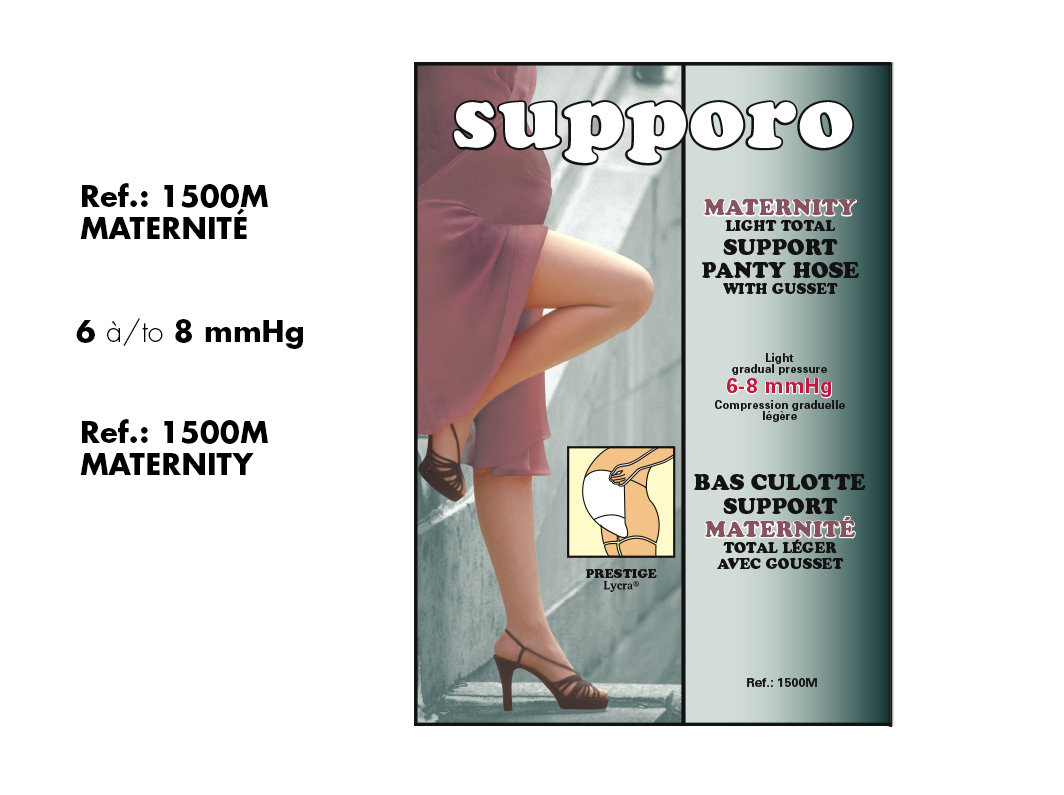 Supporo Bas Culotte Élastique Maternité (12-16mmHg) Supporo Maternity Elastic support  Panty Hose.
