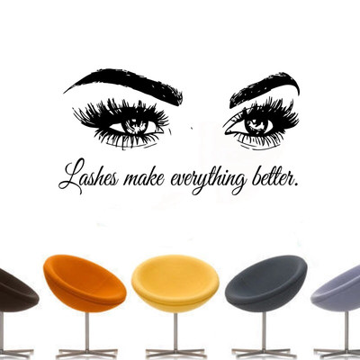 3D wall decor-eyelash beauty salon 3D decoration-Lashes Make Everything Better