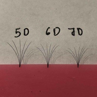 pre hand fans ( A Box of 500 Fans) 5D D curl 14mm 0.05