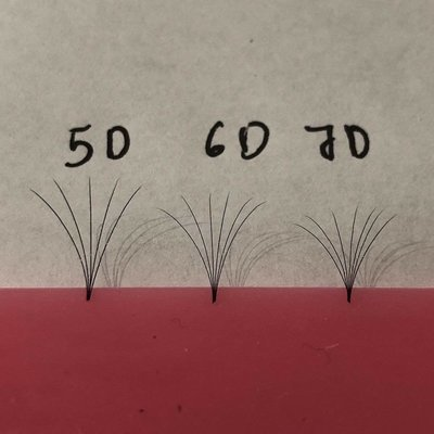 pre hand fans ( A Box of 500 Fans) 5D D curl 11mm 0.07