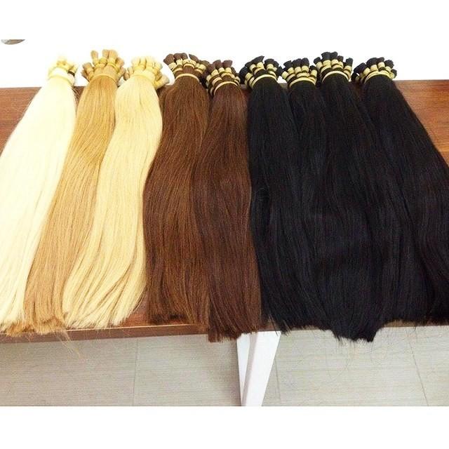 Single drawn bulk straight hair Dark Brown Color
