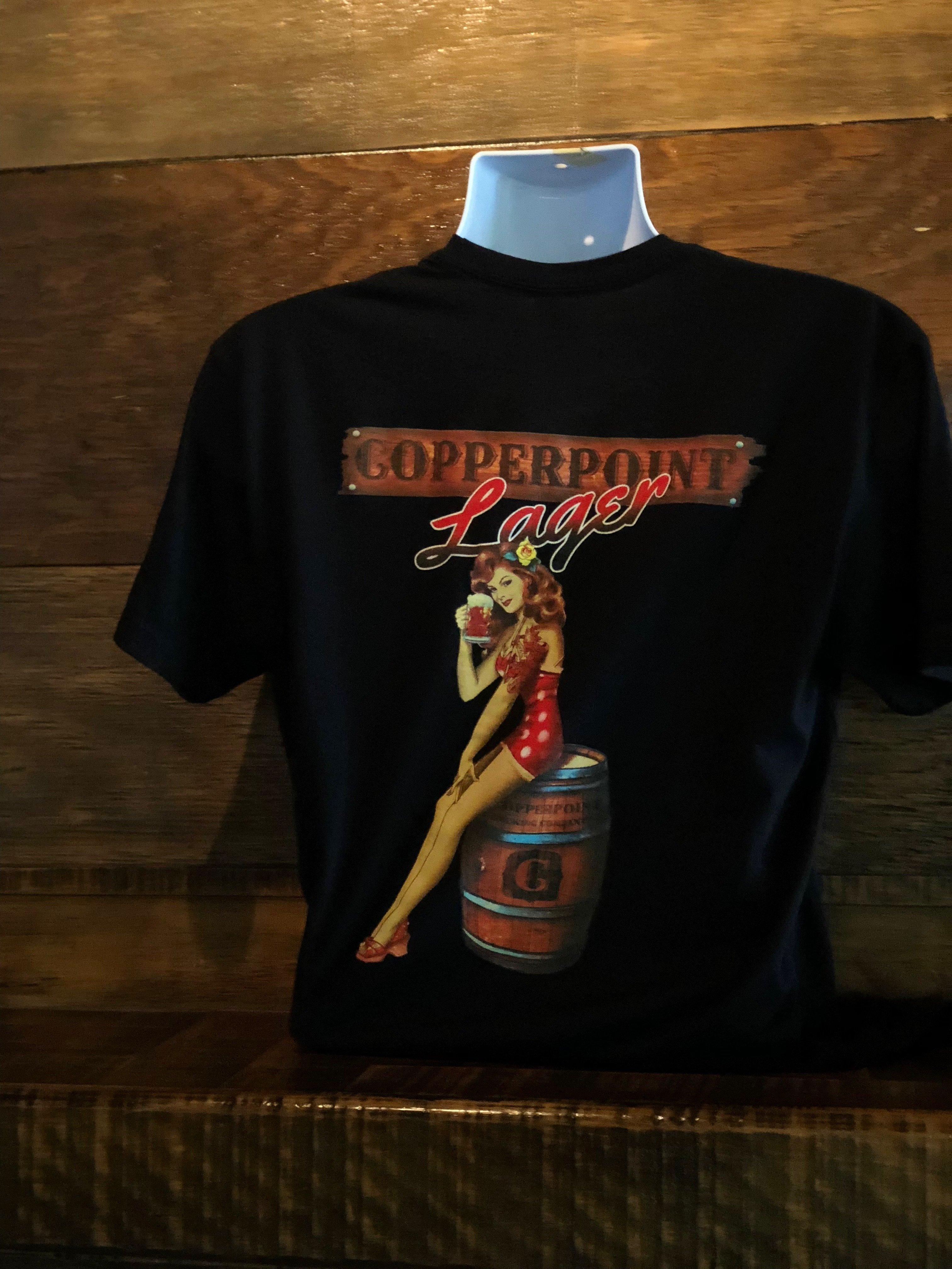 Men's Black Lager Girl Shirt 00003