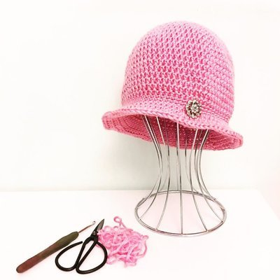 Antique Rose - Cloche Hat