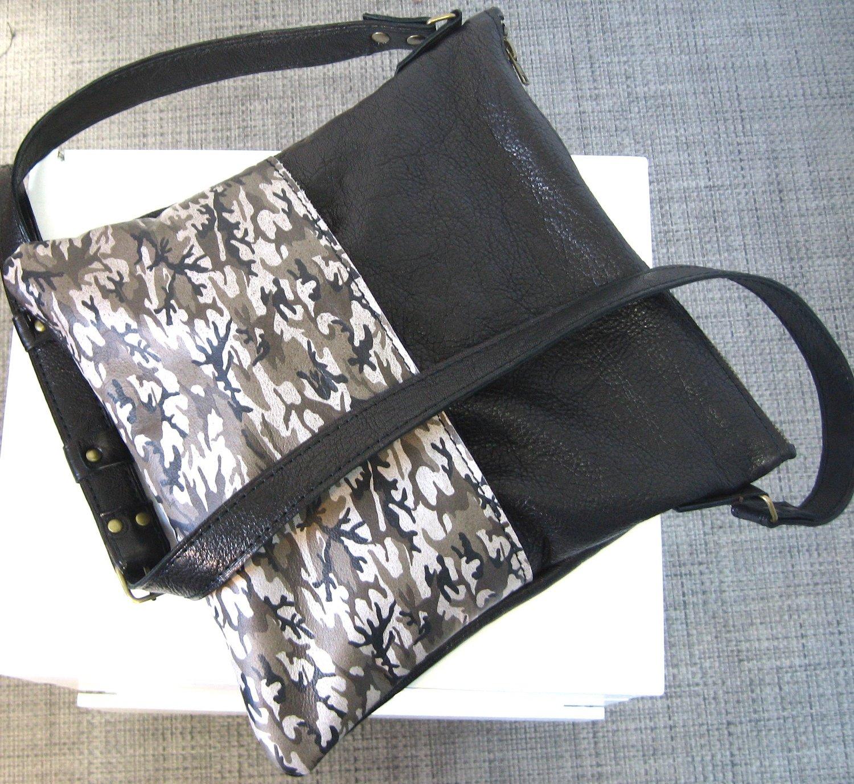 Noir Sur Unique CamouflagePorté ÉpaulePièce Impression Chloé Sac Femme Et cuir Bandoulière En Sérigraphie Cuir W9DHYIE2