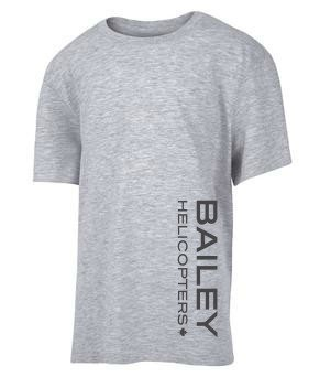 Bailey Helicopter's Youth T-Shirt Athletic Grey Athletic Grey