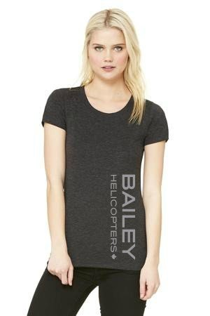 Bailey Helicopters Women's T-Shirt Charcoal Triblend Charcoal Triblend