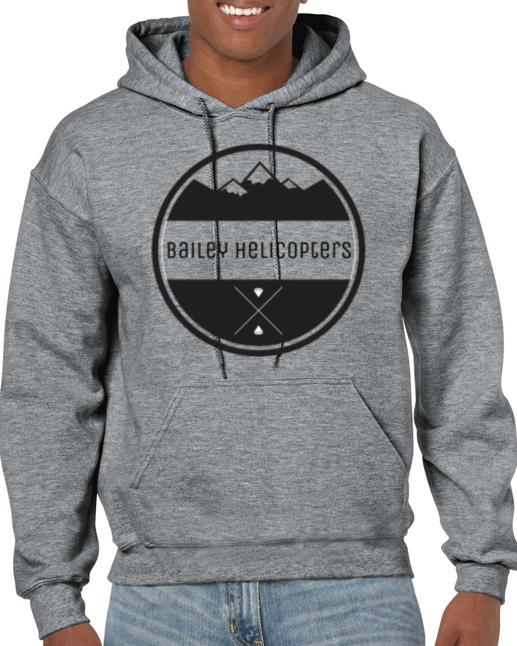 Adult Hooded Sweat Shirt Graphite Heather - Diamond
