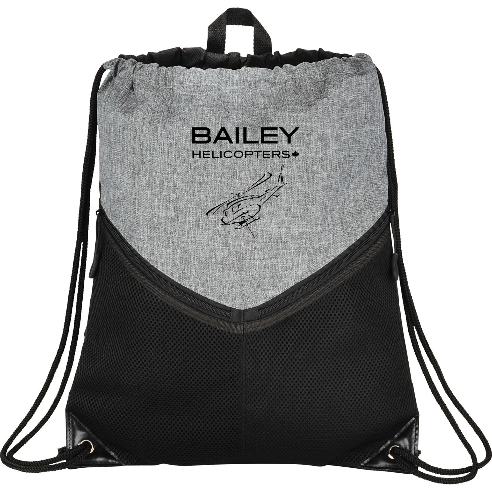 Bailey Helicopters Drawstring Sportspack Graphite/Black