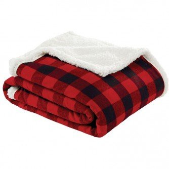 Bailey Helicopters Lumberjack Sherpa Throw