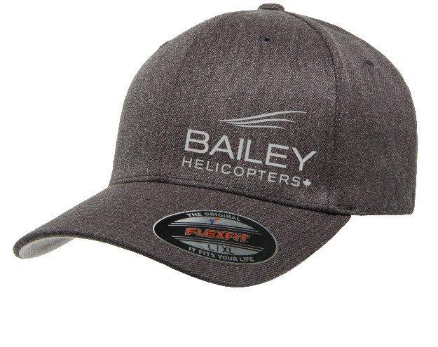 Bailey Helicopters Flexfit Wool Blend Hat Dark Heather 18-000