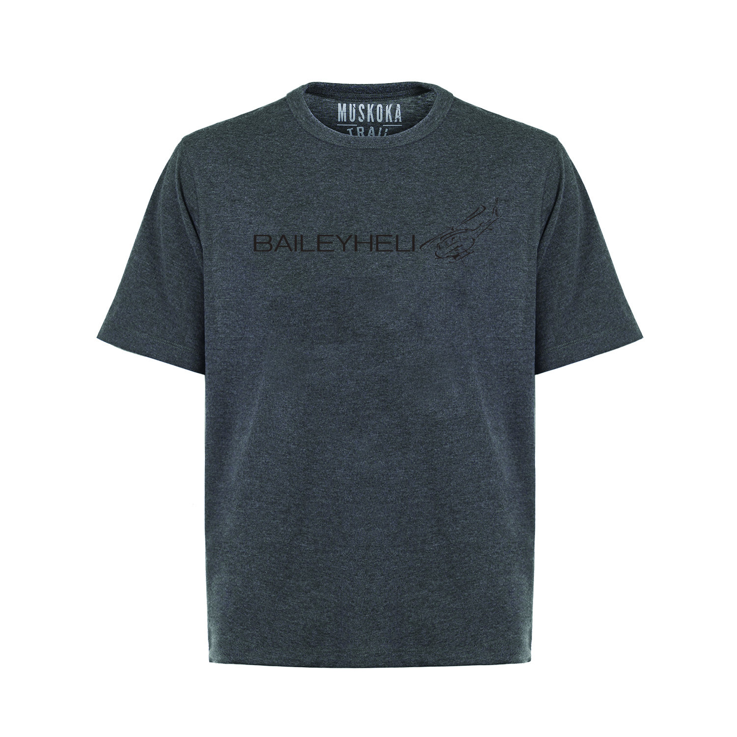 BAILEYHELI Liberty Crew Neck Tee - Mens Heathered Charcoal