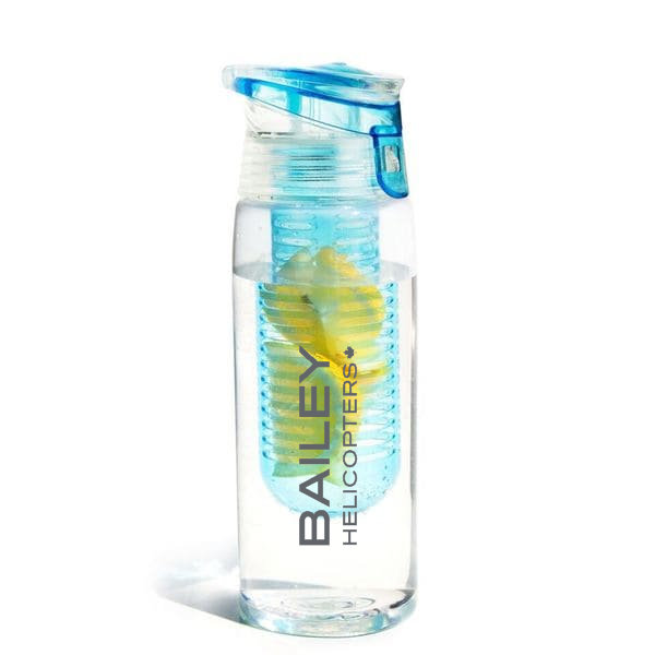 Flavor 2 Go Water Bottle with Fruit Infuser Green or Sky Blue