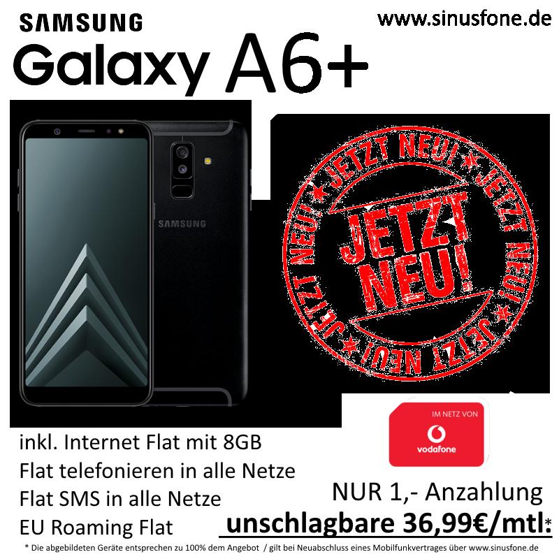 Vodafone 8 GB mit Samsung Galaxy A6+