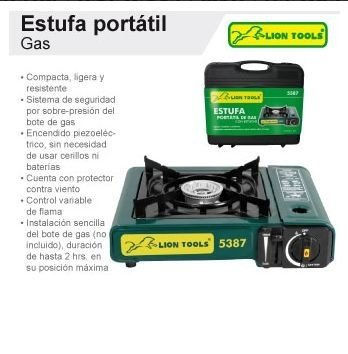 Estufa portatil de gas