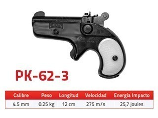 Pistola Mendoza Derringer balisalva