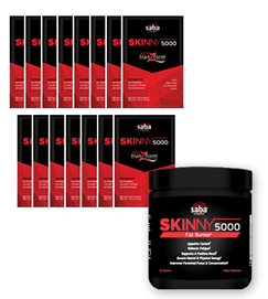 Combo Pack - Skinny 5000 60 ct + Saba Keto-Tranzform Drink 15 ct (Save $10!) S5000KT15