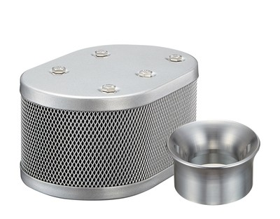 SILVER CLASSIC STYLE OVAL MESH AIR CLEANER SET FOR KADRON