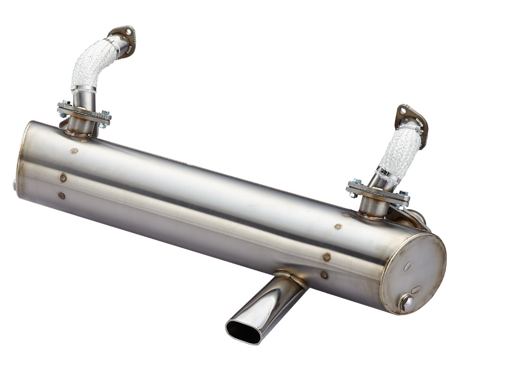 1960~1967 BUS SP MUFFLER, CLASSIC OVAL TAIL PIPE AT RIGHT SIDE