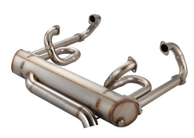 42MM HEADER & HIDDEN TAIL PIPE SUPERFLOW 2.3 MUFFLER LOWERED BUS