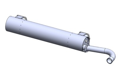 CLASSIC TYPE 4 BAYWINDOW BUS SUPER FLOW MUFFLER, SINGLE TIP