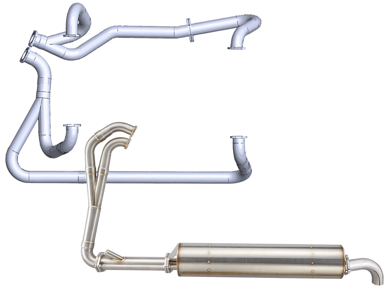 VW T3 2.1L POWER EXHAUST SYSTEM, FROM HEADER TO TAIL PIPE