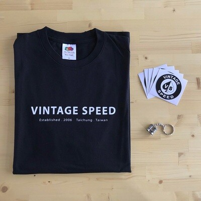 Vintagespeed Life Package (T-shirt,鑰匙圈,5張貼紙)