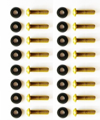 Black washers with 35mm M8 Screws // 16PC