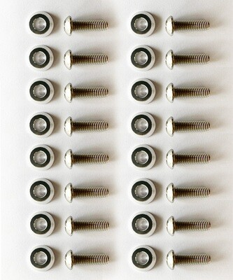 silver washers with 25mm M8 Screws //16PC