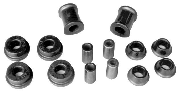 Front High-Tech Urethane Control Arm Bushings, 71-73 Super