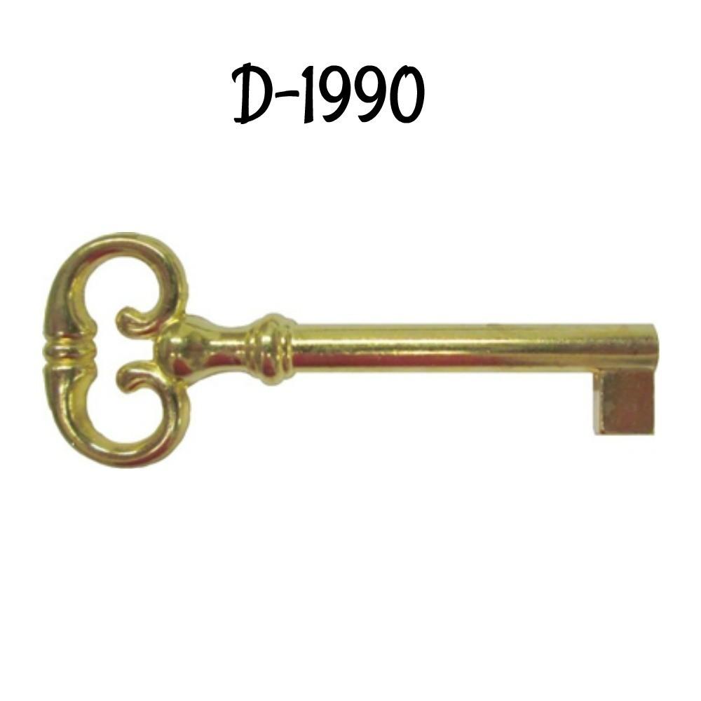 Key Blank - Brass Plated Die Cast Zinc
