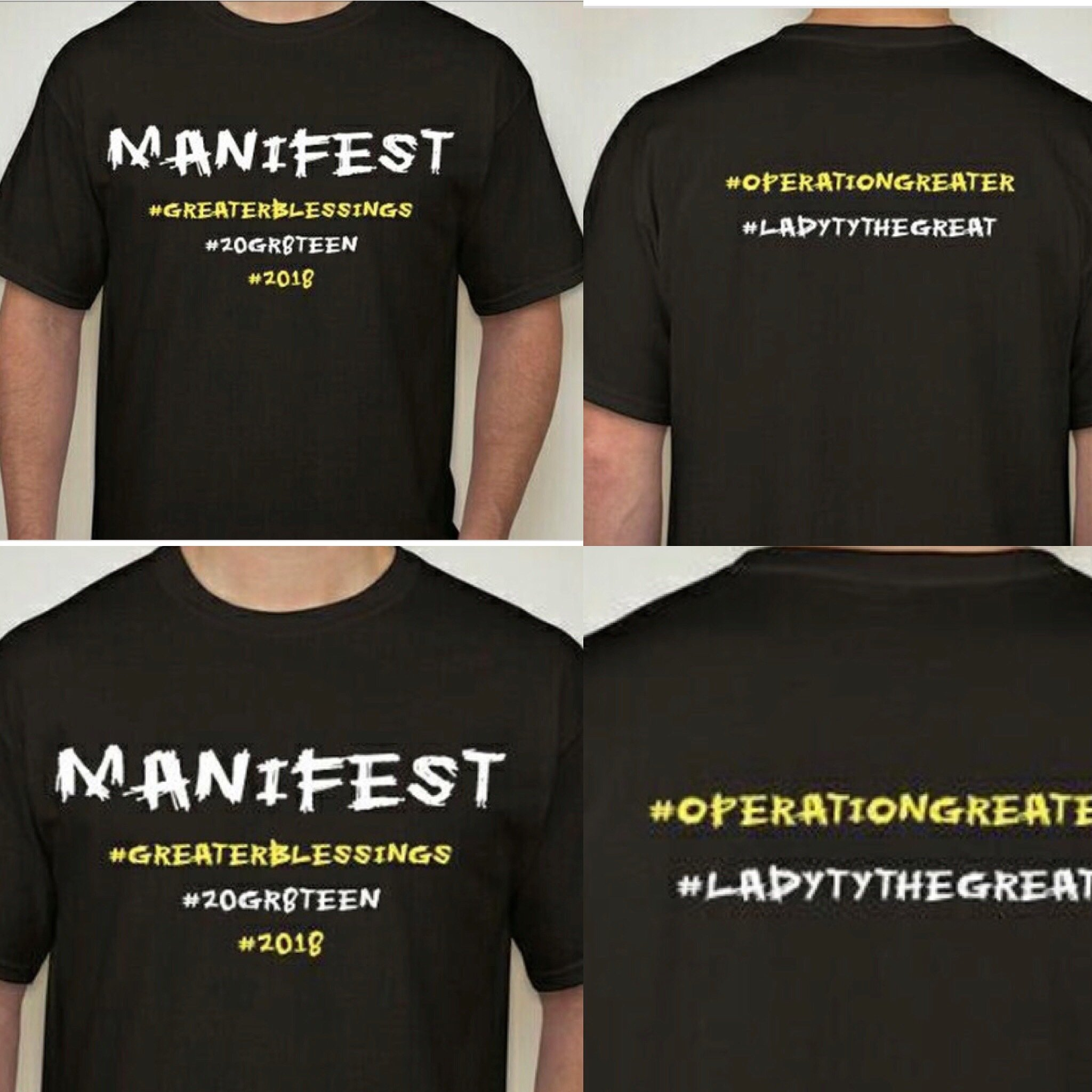 Manifest T Shirt #GreaterBlessing Special Edition mani01