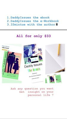 Daddy Issue $33, (e)Workbook, 33 minutes Session w the author