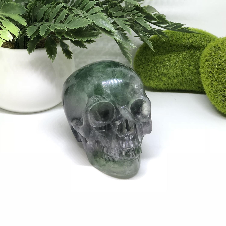 Rainbow Fluorite Skull