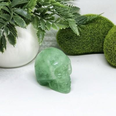 Green Fluorite Skull