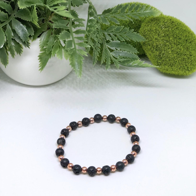 Rose Gold Lava Aroma Bracelet