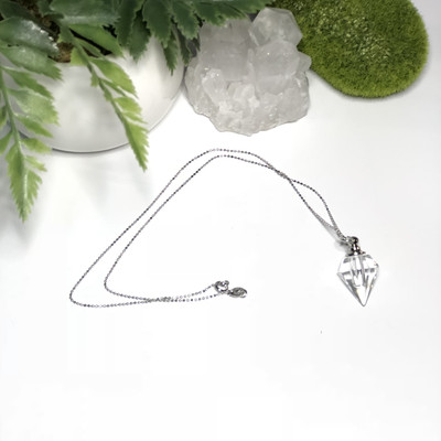 Essential Oil Diamond Bottle Necklace