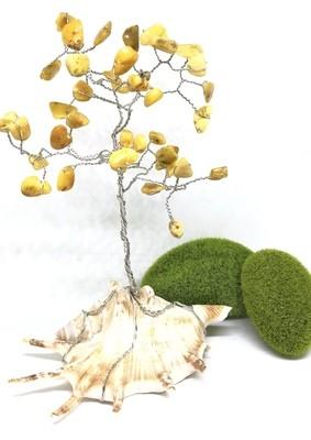 Honey Baltic Amber Gem Tree