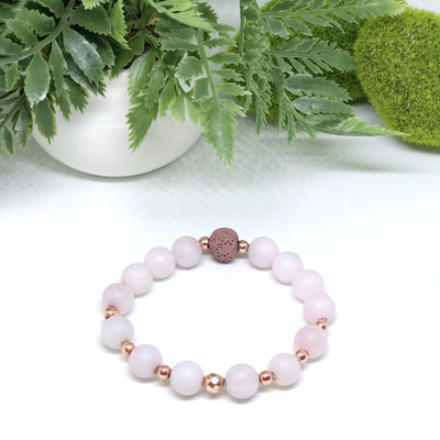 Matte Rose Quartz Aroma Bracelet