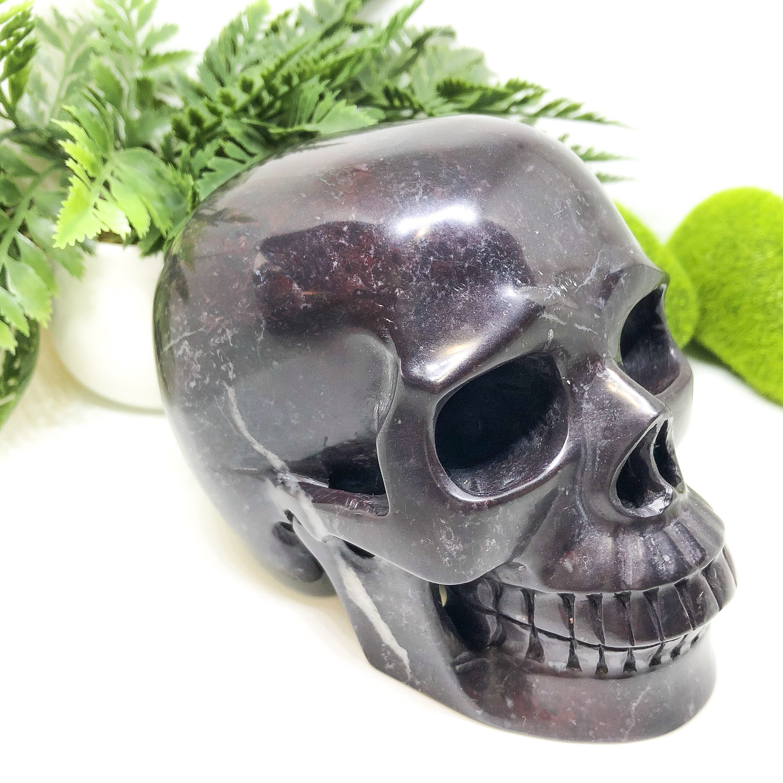 Chinese Bloodstone Skull