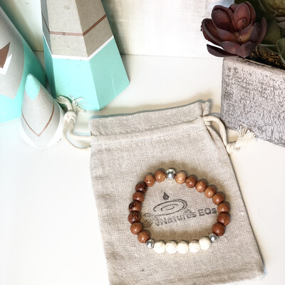 Bayong Wood & Magnesite Bracelet