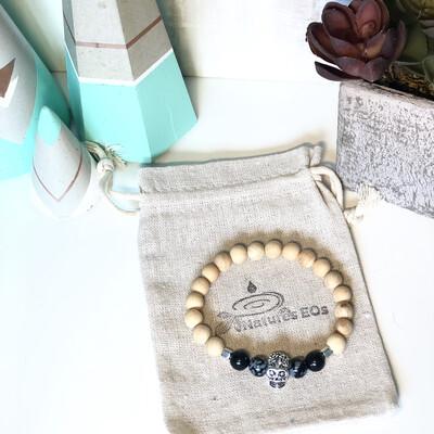 Sandalwood Sugar Skull Aroma Bracelet
