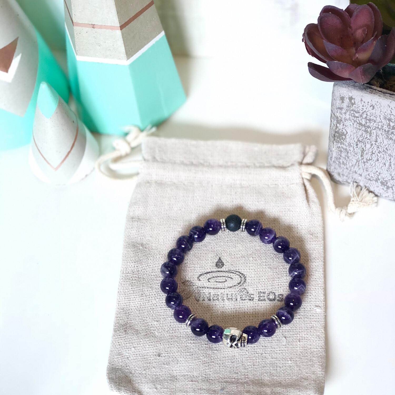 Chevron Amethyst Aroma Bracelet