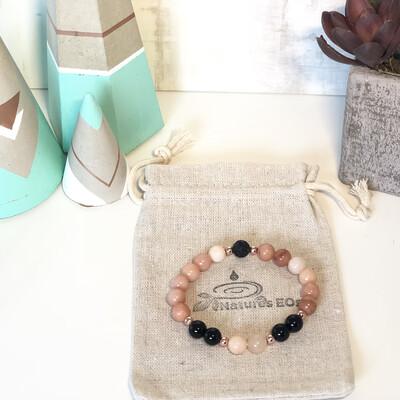 Pink Aventurine & Black Onyx Aroma Bracelet