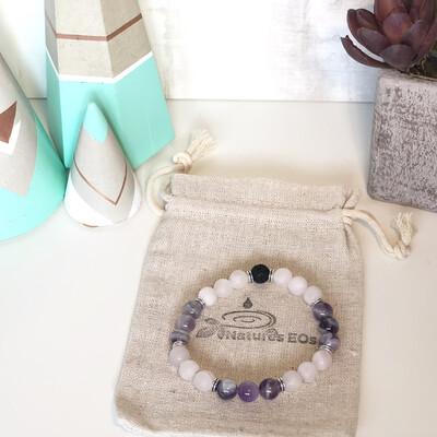 Rose Quartz & Amethyst Aroma Bracelet