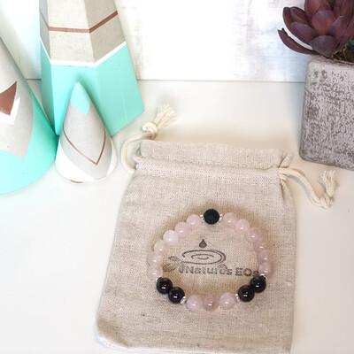 Rose Quartz & Garnet Aroma Bracelet