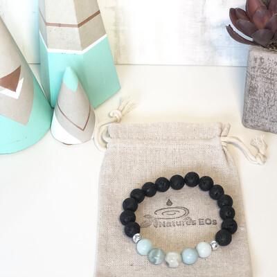 Amazonite & Lava Aroma Bracelet